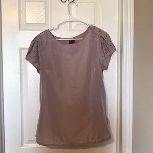 Mauve blouse with gem shoulders